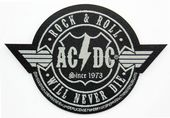 AC/DC - 'Rock & Roll Will Never Die' Woven Patch
